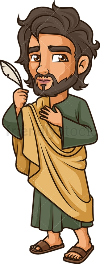 John The Evangelist. PNG - JPG and vector EPS file formats (infinitely scalable). Image isolated on transparent background.