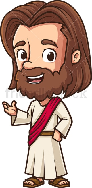 Kawaii jesus talking. PNG - JPG and vector EPS (infinitely scalable).