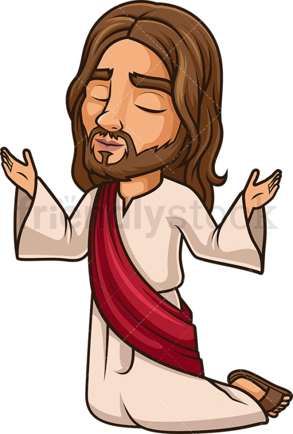 Jesus Christ praying to God. PNG - JPG and vector EPS (infinitely scalable).