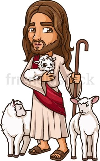 Jesus The Good Shepherd. PNG - JPG and vector EPS (infinitely scalable).