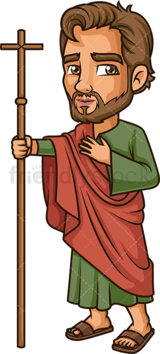 Philip The Apostle. PNG - JPG and vector EPS file formats (infinitely scalable). Image isolated on transparent background.