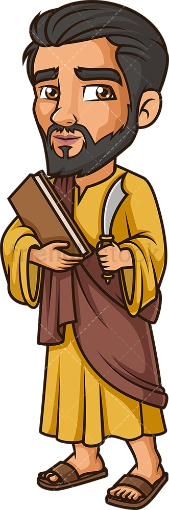 Bartholomew The Apostle. PNG - JPG and vector EPS file formats (infinitely scalable). Image isolated on transparent background.