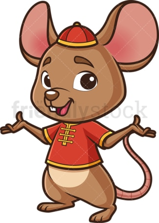 Chinese new year rat presenting. PNG - JPG and vector EPS (infinitely scalable).