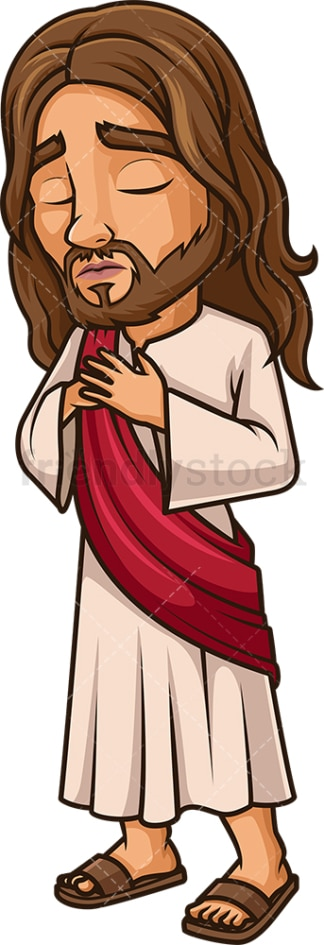 Sorrowful Jesus Christ. PNG - JPG and vector EPS (infinitely scalable).