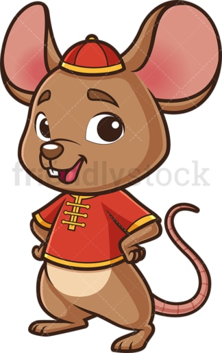 Cute chinese new year rat. PNG - JPG and vector EPS (infinitely scalable).