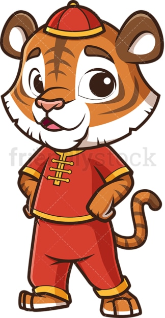 Cute chinese new year tiger. PNG - JPG and vector EPS (infinitely scalable).