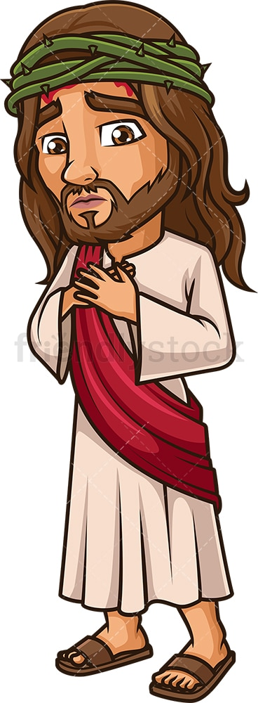 Jesus Christ with crown of thorns. PNG - JPG and vector EPS (infinitely scalable).
