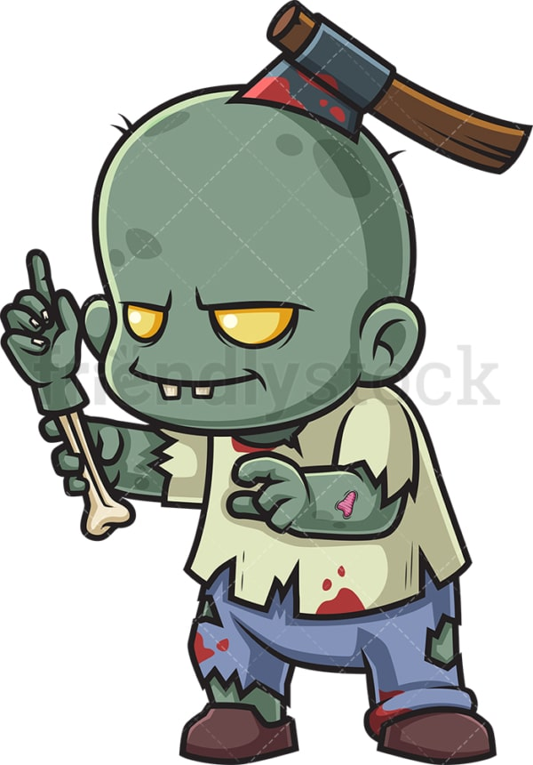 Zombie pointing up. PNG - JPG and vector EPS (infinitely scalable).