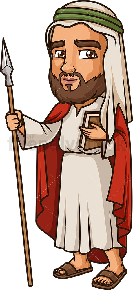 Thomas The Apostle. PNG - JPG and vector EPS file formats (infinitely scalable). Image isolated on transparent background.