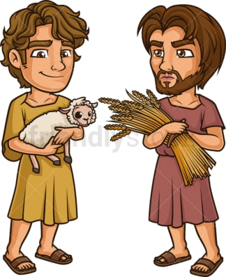 Cain and abel. PNG - JPG and vector EPS (infinitely scalable).