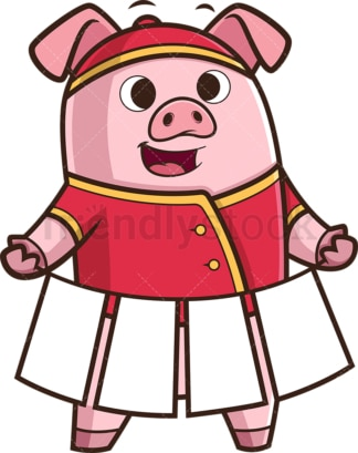 Cheerful chinese new year pig. PNG - JPG and vector EPS (infinitely scalable).