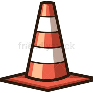 Construction cone. PNG - JPG and vector EPS file formats (infinitely scalable). Image isolated on transparent background.