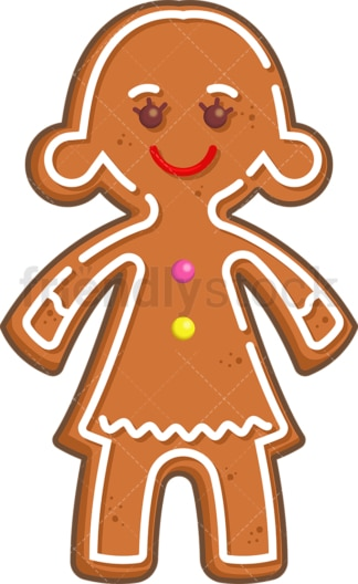 Gingerbread girl. PNG - JPG and vector EPS (infinitely scalable).