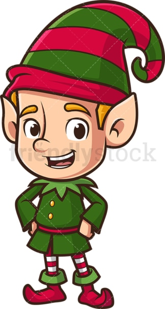 Happy christmas elf. PNG - JPG and vector EPS (infinitely scalable).