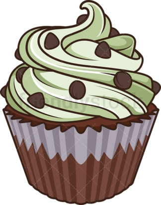 Peanut frosting cupcake. PNG - JPG and vector EPS file formats (infinitely scalable). Image isolated on transparent background.