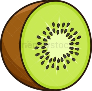 Sliced kiwi. PNG - JPG and vector EPS file formats (infinitely scalable). Image isolated on transparent background.