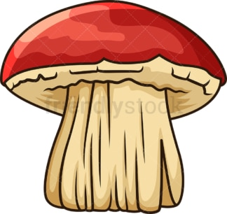 Big red mushroom. PNG - JPG and vector EPS file formats (infinitely scalable). Image isolated on transparent background.