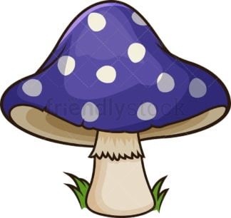 Blue dotted mushroom. PNG - JPG and vector EPS file formats (infinitely scalable). Image isolated on transparent background.