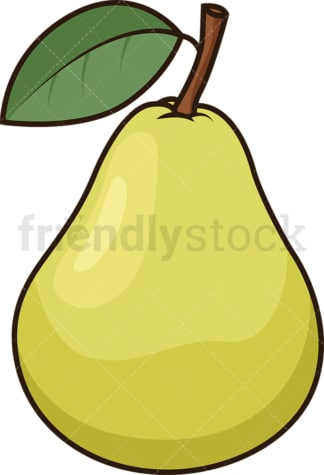 Green pear. PNG - JPG and vector EPS file formats (infinitely scalable). Image isolated on transparent background.