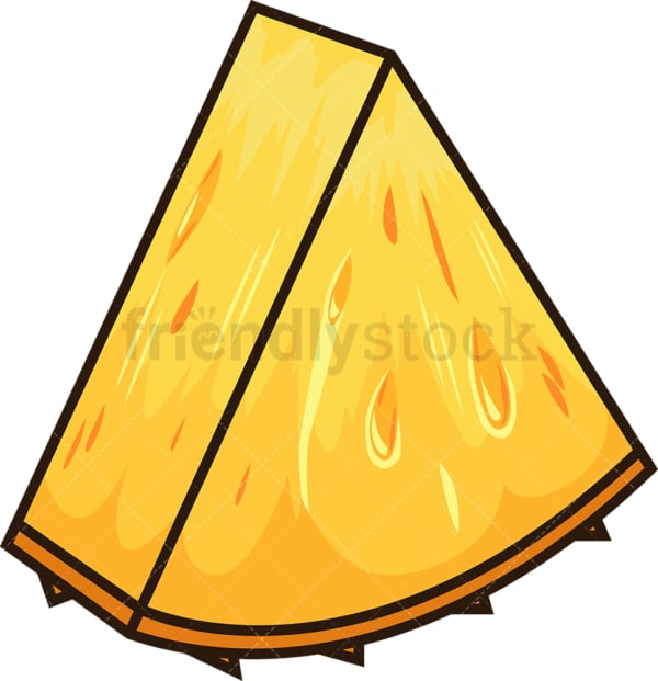 Pineapple slice. PNG - JPG and vector EPS file formats (infinitely scalable). Image isolated on transparent background.