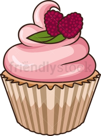Strawberry cupcake. PNG - JPG and vector EPS file formats (infinitely scalable). Image isolated on transparent background.