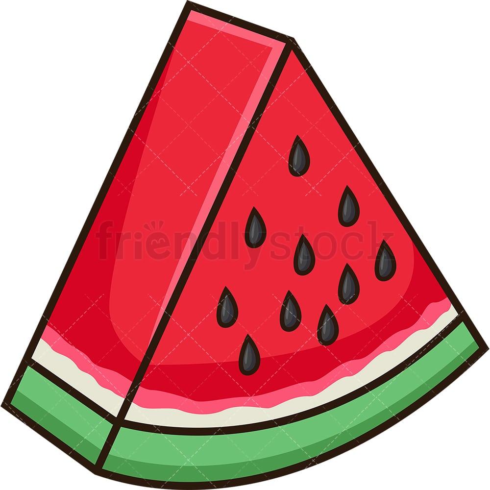Watermelon Slice Cartoon Vector Clipart - FriendlyStock (1000 x 1000 Pixel)