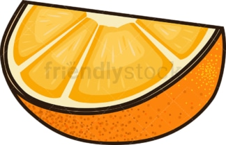 Orange slice. PNG - JPG and vector EPS file formats (infinitely scalable). Image isolated on transparent background.