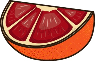 Blood orange slice. PNG - JPG and vector EPS file formats (infinitely scalable). Image isolated on transparent background.
