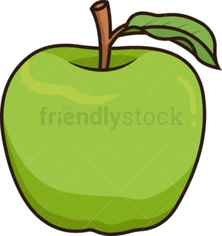 Green smith apple. PNG - JPG and vector EPS file formats (infinitely scalable). Image isolated on transparent background.