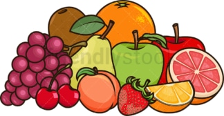 Fruits group. PNG - JPG and vector EPS file formats (infinitely scalable). Image isolated on transparent background.