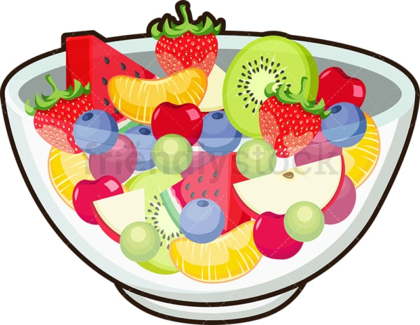 Fruit salad. PNG - JPG and vector EPS file formats (infinitely scalable). Image isolated on transparent background.