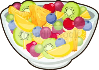 Various fruits in bowl. PNG - JPG and vector EPS file formats (infinitely scalable). Image isolated on transparent background.