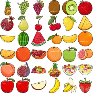 Fresh fruit. PNG - JPG and vector EPS file formats (infinitely scalable). Image isolated on transparent background.