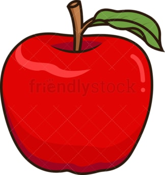 Red apple. PNG - JPG and vector EPS file formats (infinitely scalable). Image isolated on transparent background.