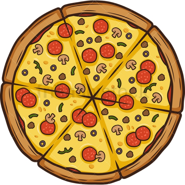Special pizza. PNG - JPG and vector EPS (infinitely scalable).
