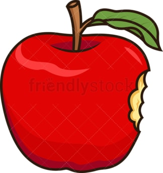 Bitten apple. PNG - JPG and vector EPS file formats (infinitely scalable). Image isolated on transparent background.