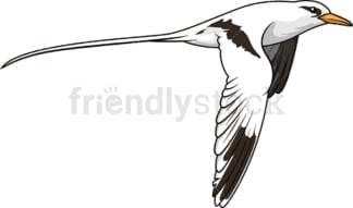 Flying tropicbird. PNG - JPG and vector EPS (infinitely scalable).