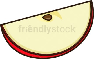 Apple slice. PNG - JPG and vector EPS file formats (infinitely scalable). Image isolated on transparent background.