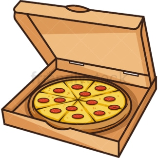 Open pizza box. PNG - JPG and vector EPS (infinitely scalable).