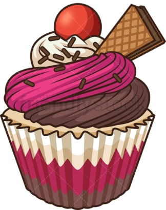 Special cupcake. PNG - JPG and vector EPS file formats (infinitely scalable). Image isolated on transparent background.