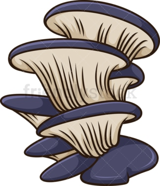 Actarius indigo mushroom. PNG - JPG and vector EPS file formats (infinitely scalable). Image isolated on transparent background.