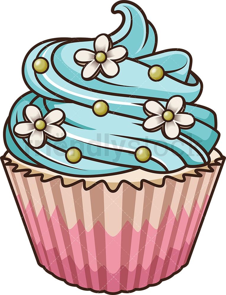 Lavender Cupcake Cartoon Vector Clipart - FriendlyStock