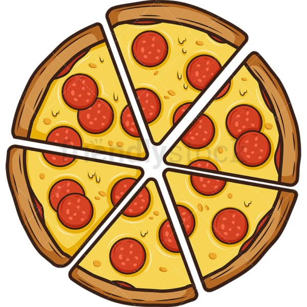 Sliced pizza. PNG - JPG and vector EPS (infinitely scalable).