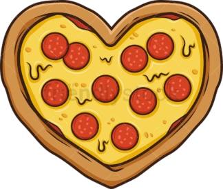 Heart shaped pizza. PNG - JPG and vector EPS (infinitely scalable).