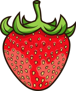 Red strawberry. PNG - JPG and vector EPS file formats (infinitely scalable). Image isolated on transparent background.