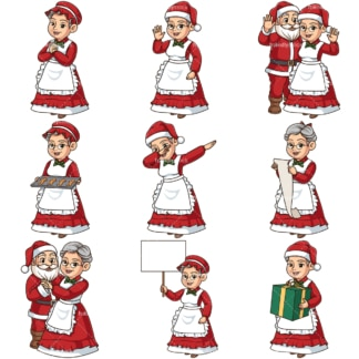 Mrs santa claus. PNG - JPG and infinitely scalable vector EPS - on white or transparent background.