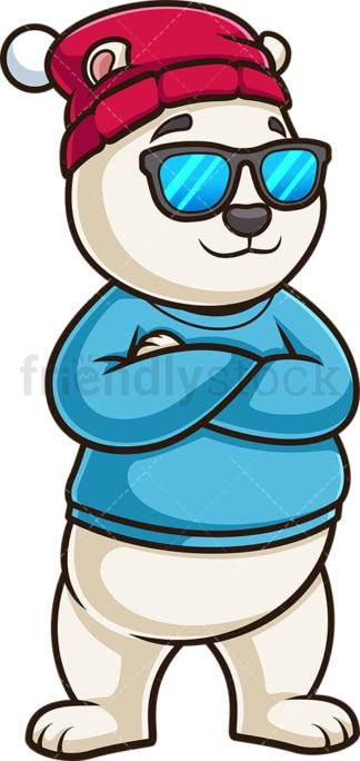 Cool polar bear with sunglasses. PNG - JPG and vector EPS (infinitely scalable).