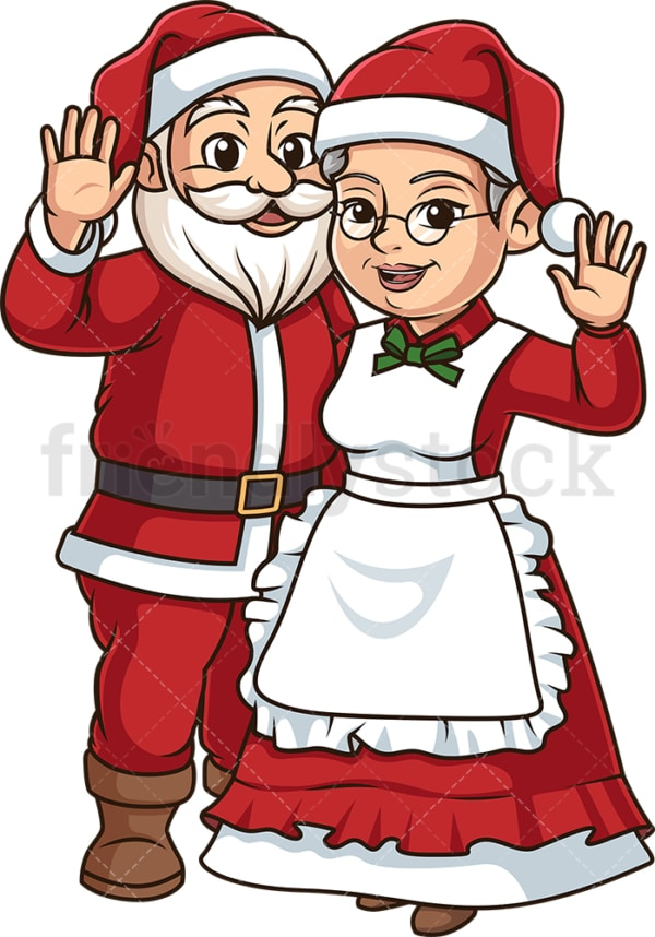 Mr and Mrs santa claus. PNG - JPG and vector EPS (infinitely scalable).