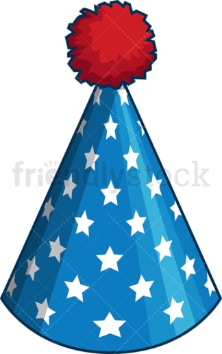 Patriotic party hat. PNG - JPG and vector EPS file formats (infinitely scalable). Image isolated on transparent background.