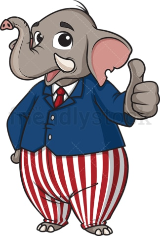 Republican elephant thumbs up. PNG - JPG and vector EPS (infinitely scalable).